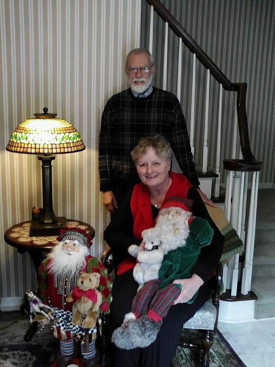 The Schultzs collect Santas every season.