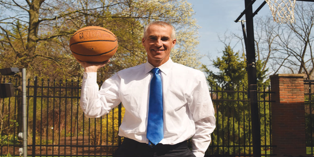 13abc anchor Lee Conklin shoots hoops  in his down time