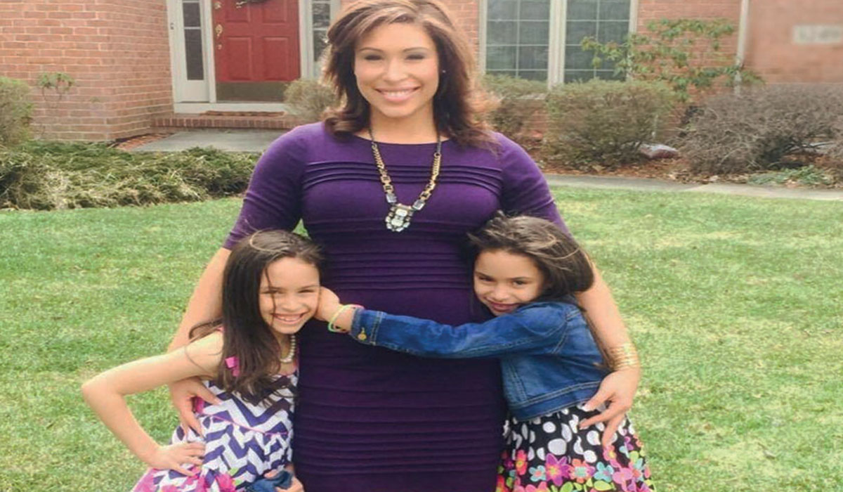 WTVG News Anchor Kristian Brown, with daughters Laila and Lauren