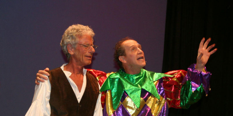 Ron-Davis-and-Reed-Steele-in-My-Son-Pinocchio-theater-story