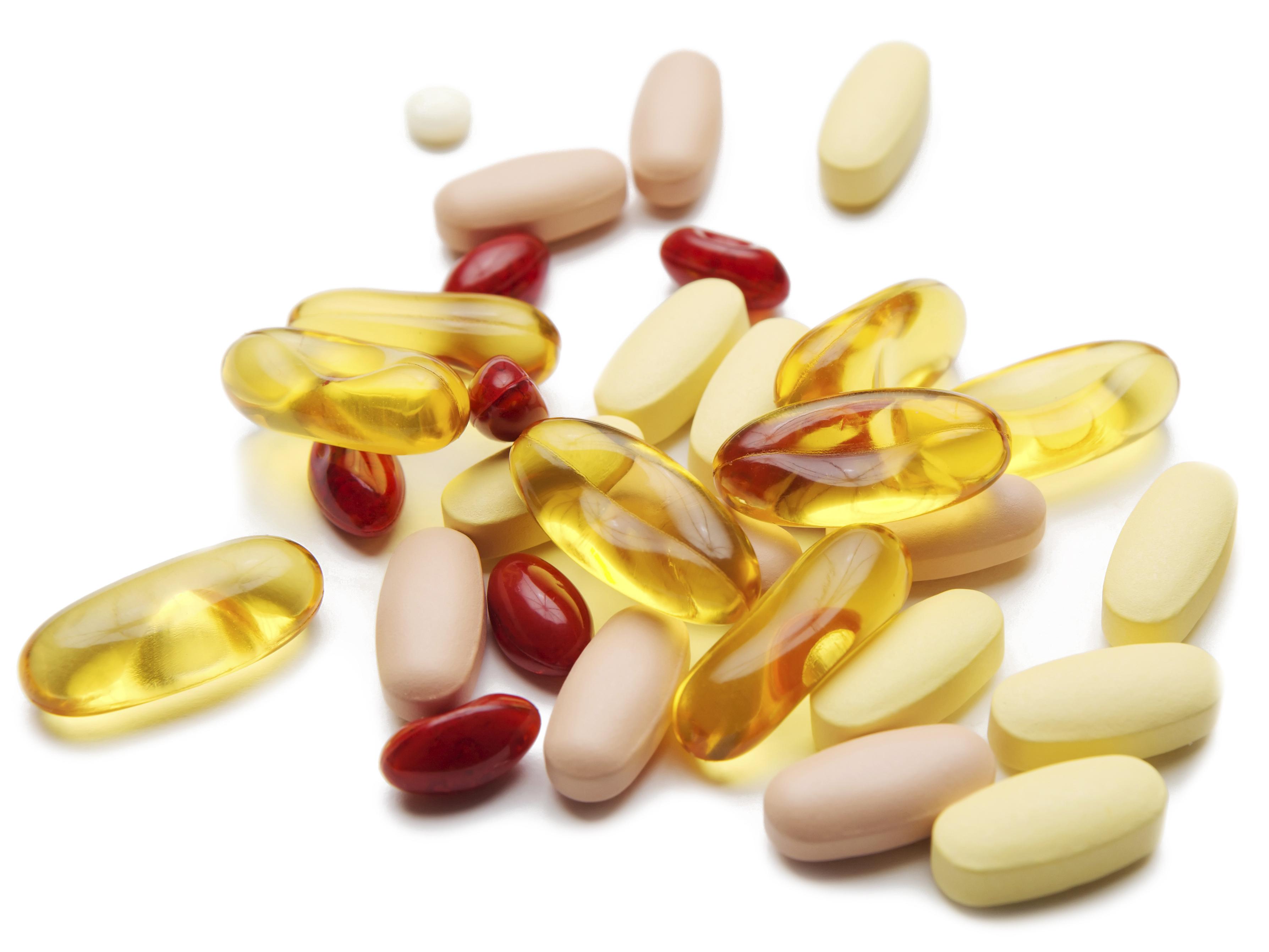 Assortment of vitamin pills