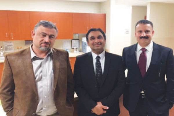 Three of the physicians involved with the new Toledo Vascular Access Center  (from left): Dr. Jihad Abbas, Dr. Shaukat Rashid and Dr. Balhinder Brar.