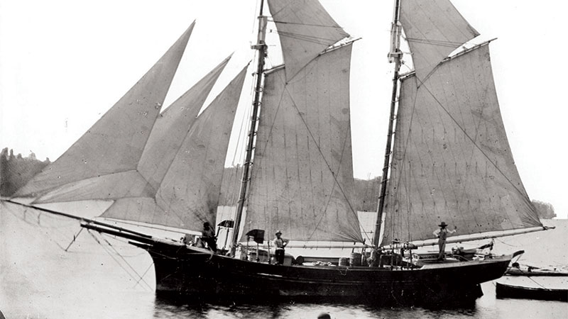 Lettie May, a ship similar  in size and rigging to  the Lake Serpent.