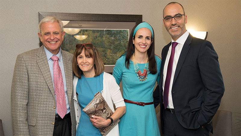 (L-R) Bruce Daskal (CEO), Sharon Daskal, Caroline Sharvit (Corporate Dietitian), and Eliav Sharvit (General Counsel).