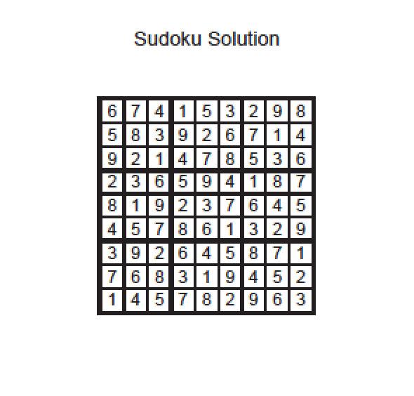 June Sudoku.