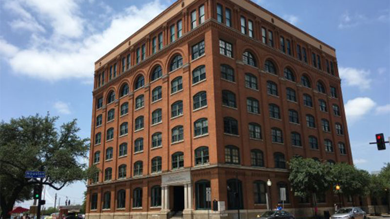 The famous 'Texas Book Depository'.