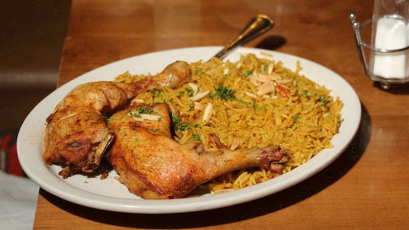 Chicken kapsa.