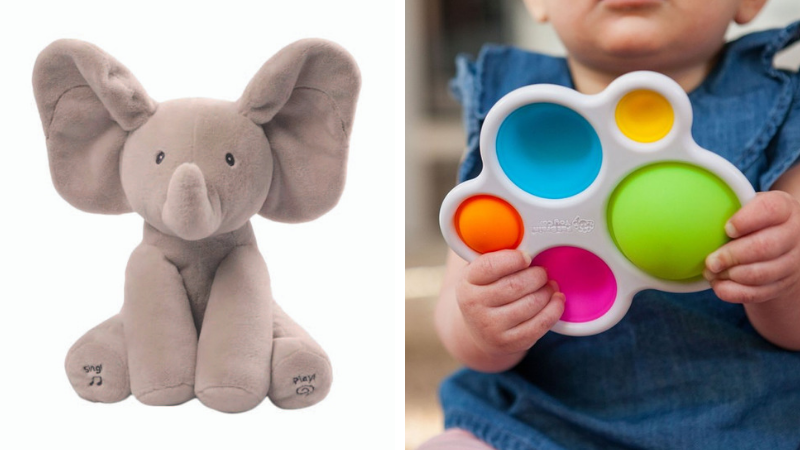 Flappy the Elephant (left), and Dimpl (right).