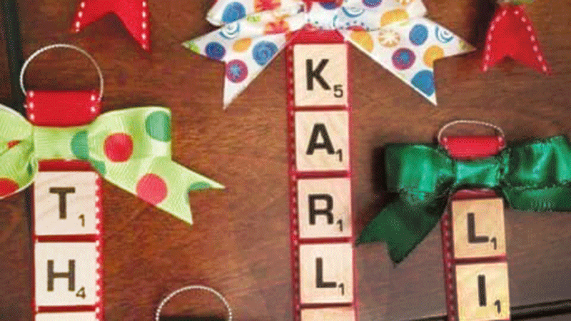 Use Scrabble letters to decorate!
