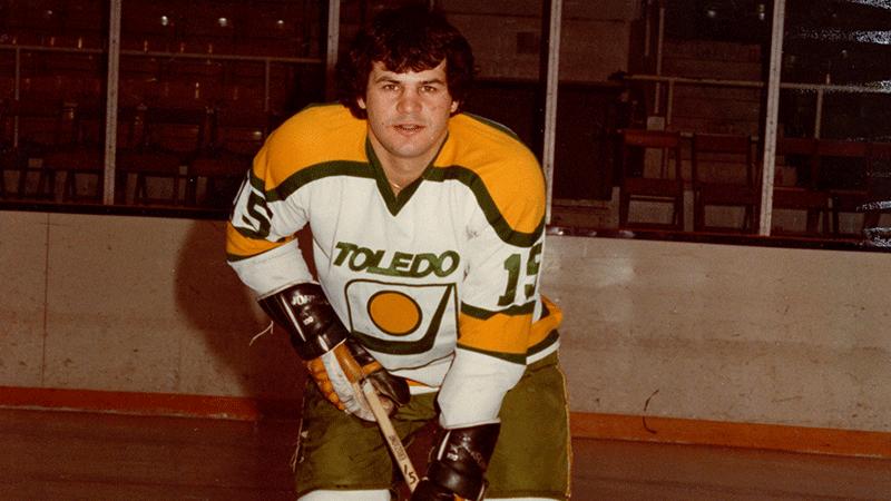 "Mike Eruzione, nicknamed ""Rizzo""."