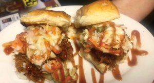 Ventura's barbequed pork sliders