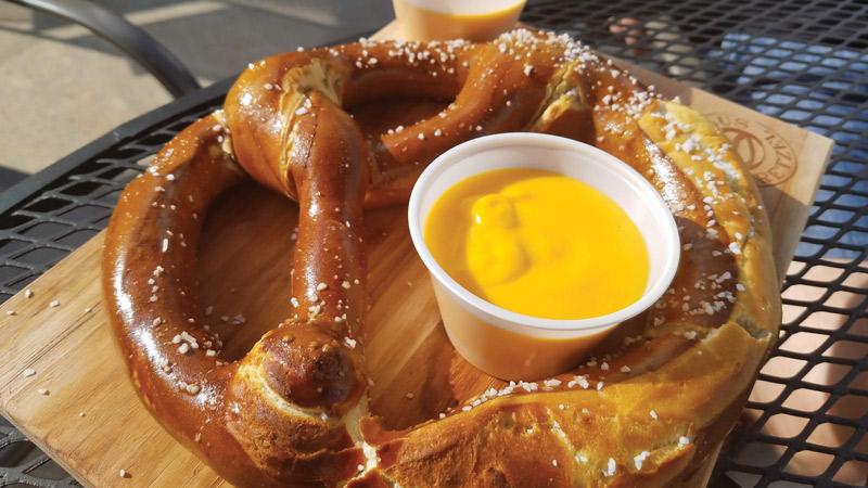 H2O Cafe pretzel