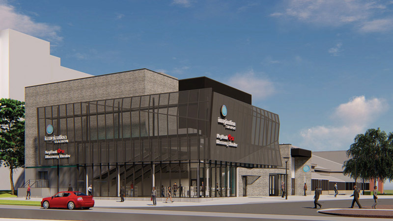 Imagination Station has begun construction on the KeyBank Discovery Theater