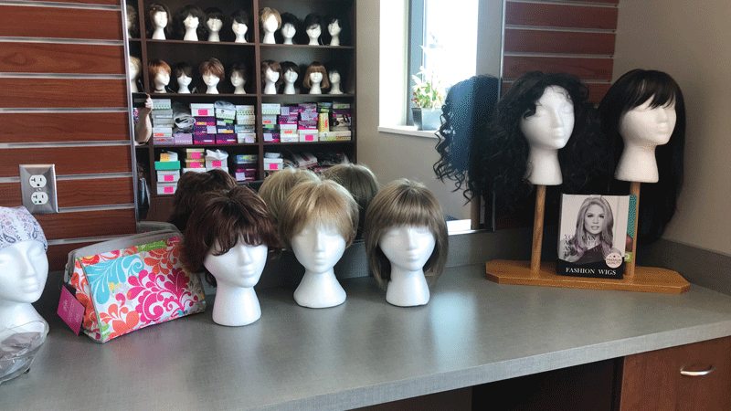 The Victory Center's Wig Bank has been relocated to a roomier space in the Perrysburg facility. Two beauty salon stations have been created to accommodate cancer patients and their guests.